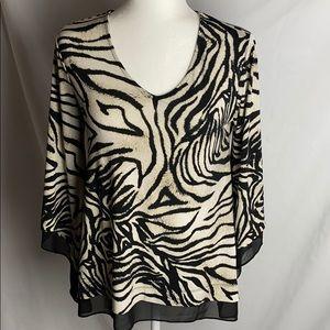 ⭐️ 3/$30 Alfani Zebra Pattern w/ Wing sleeves